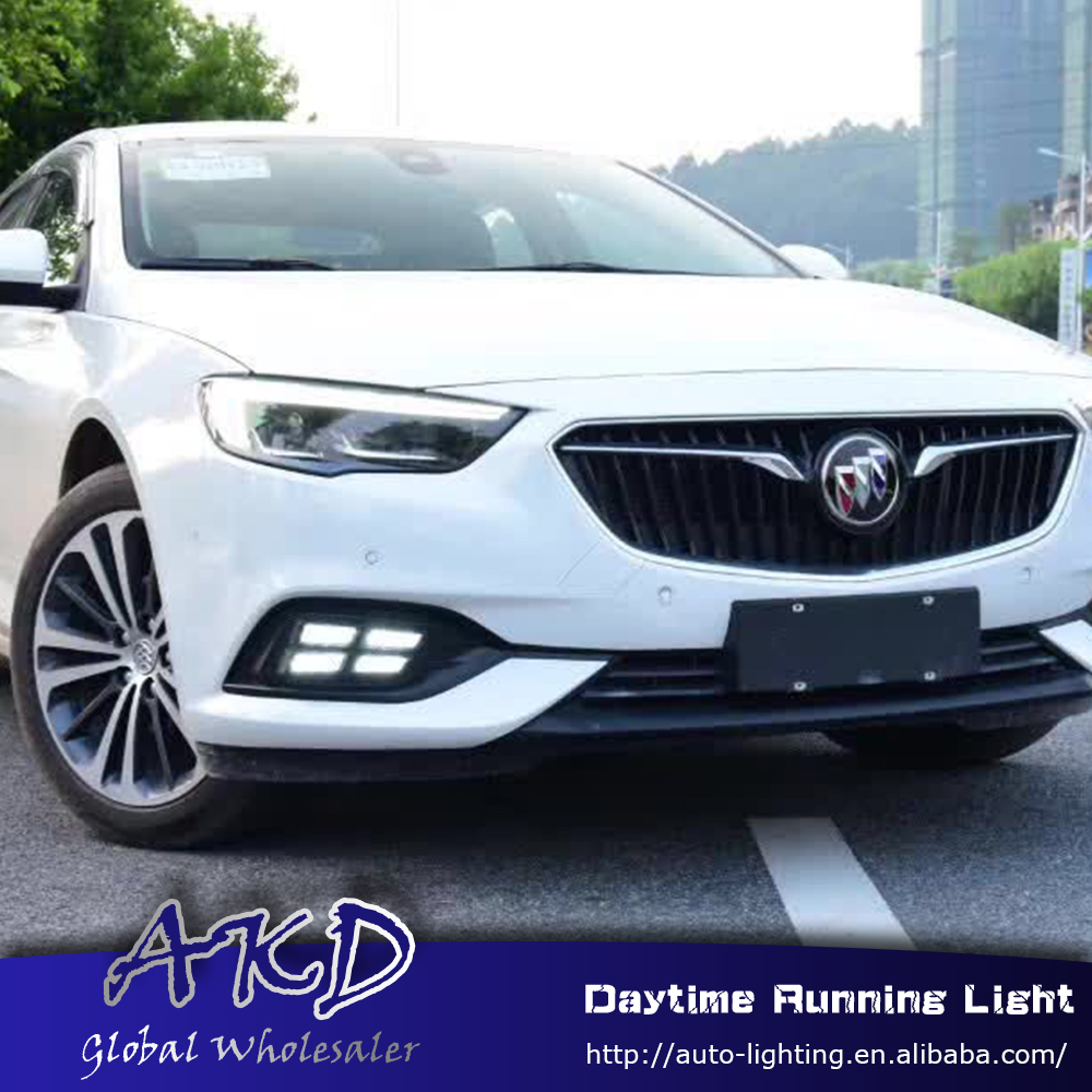 AKD Car Styling for Opel Insignia 2016 2017 LED DRL for New Insignia Front Led Drl Running Light Fog Light Parking Accessories