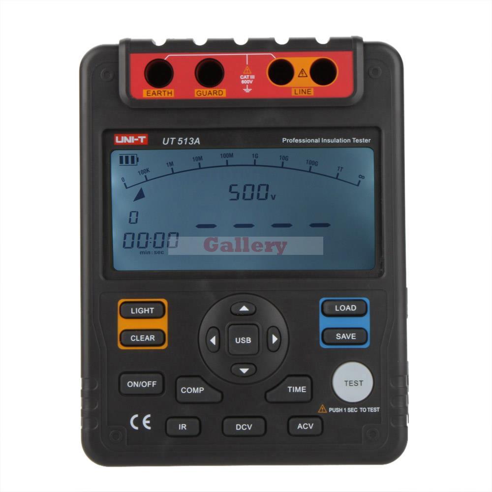 Appareil de contrôle de résistance d'isolation numérique voltmètre megohmmètre 5000 v 1000 W Interface Usb