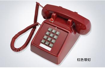 Red HA(25)T(2) antyczne telefony dekoracyjne klasyczny stacjonarny telefon stacjonarny metalowy dzwonek tanie i dobre opinie BINYEAE Przewodowe