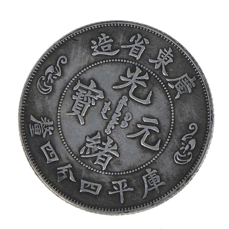 Vòng Tay Phong Thủy Đồng Tiền QingCollection Tưởng Niệm Quà Lưu Niệm Nhà Trang Trí Nhà Rồng Vàng Kỷ Niệm Bản Sao Đồng Xu