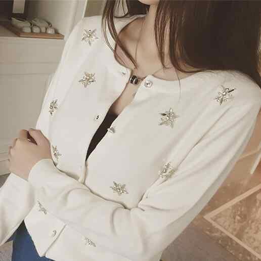 Женский вязаный кардиган с длинными рукавами, с принтом, черный, белый, серый, хлопковый свитер, зимний Кардиган, женский свитер, Mujer, 3 вида стилей, Q236