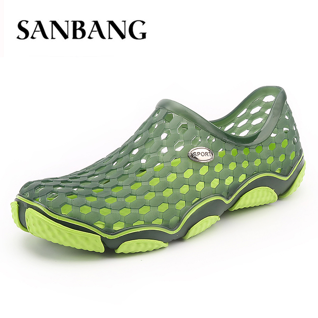 Water Shoes Aqua Slippers Breathable Beach Outdoor Summer Men S Eva Hole Sandals