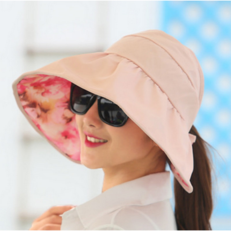 79a16e1c4 Which in shower Pink Purple Red Rose Beige Tan Reversible Plain Floral  Women Sun Hat Cap Two Side Floral Beach Summer Hat Gorras
