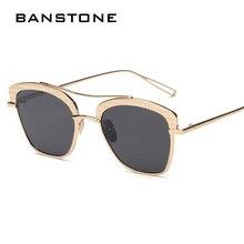 BANSTONE Mujeres Hombres Marco de Metal de Lujo de Gran Tamaño gafas de Sol de Diseño Elegante de La Vendimia Gafas de Sol Retro Shades UV400 gafas de sol