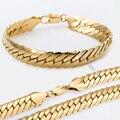 Snake Herringbone Necklace Bracelet set Gold Filled Necklace Bracelet Jewelry Set  Womens Mens Chain Wholesale GS06