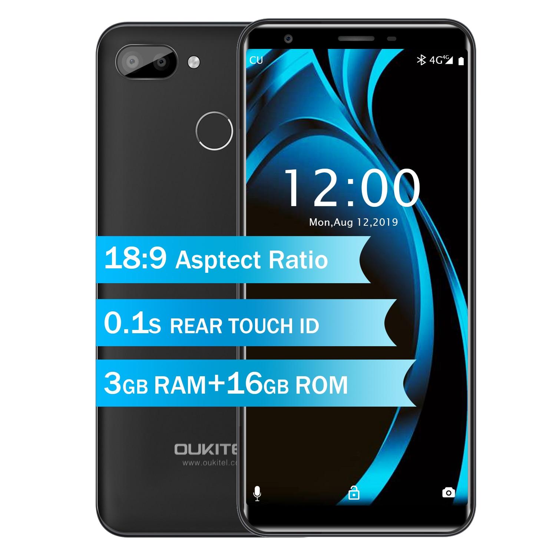 OUKITEL C11 Pro 4G LTE Smartphone 5 5 18 9 Quad Core Cellphone Face ID 3G