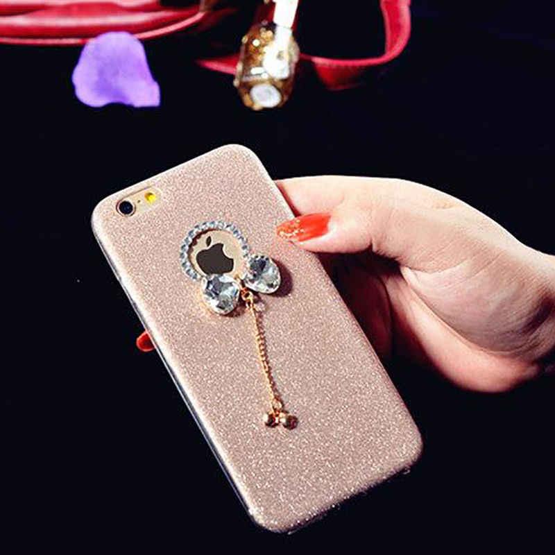 Блестящий чехол с кристаллами для iPhone 6 Plus, чехол, чехол для iPhone X, 6splus, 7, 8, 5S, se, 5, чехол из мягкого ТПУ