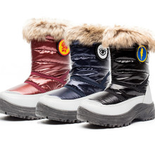 hot deal buy kids snow boots winter warm snow boots kids fur shoes non-slip shoes platform winter boots for girls toddler snow boots