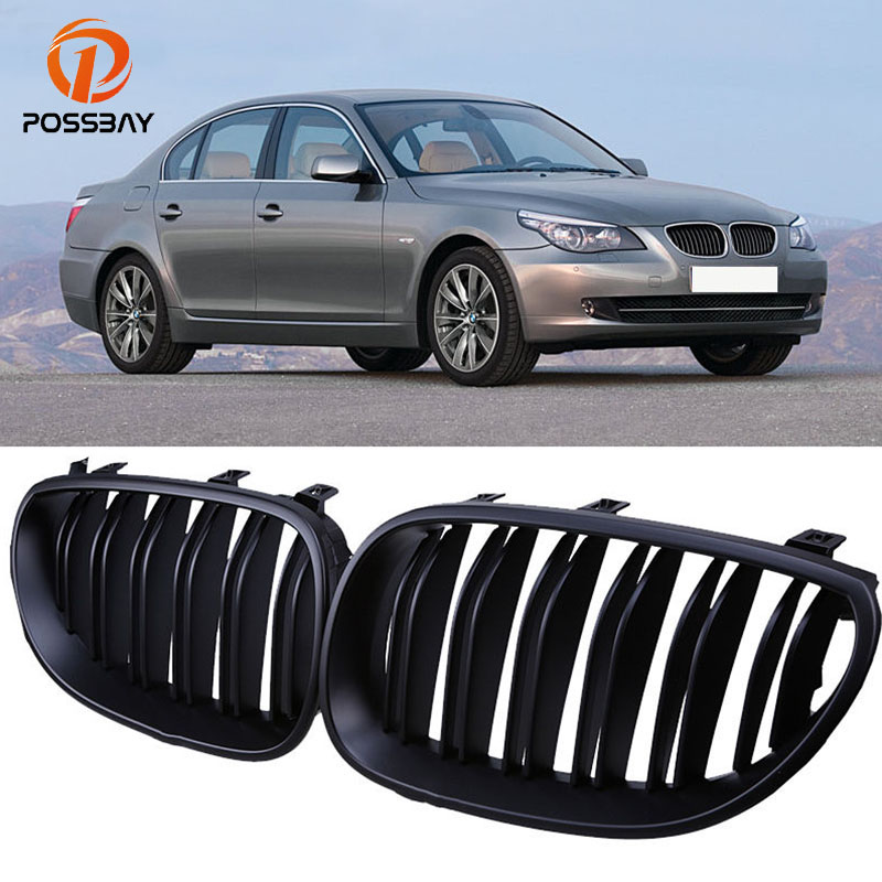 Us 36 13 51 Off Possbay Matte Black Kidney Front Grills Grille For Bmw 5 Series E60 E61 M5 2004 2005 2006 2007 2008 2009 2010 2011 Car Accessory In