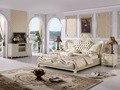 El diseño moderno cama de cuero suave / doble grande muebles de dormitorio, estilo americano