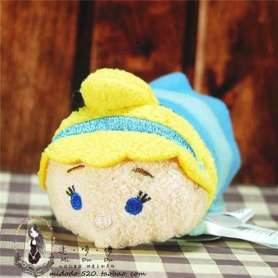 3.5Inch Mike Sully mermaid cinderalla alice princess Plush Toys Keychains TSUM TSUM Mini goofy jack Kids Gifts Bebe Bonecas
