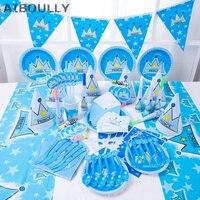 90 pz di Lusso Bambini Birthday Set Decoration 1st Birthday Tema Del Partito Del Bambino Principe Principessa Brithday Decorazione del partito