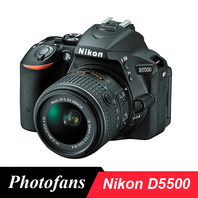 Nikon  D5500 DSLR Camera with 18-55mm Lens 24.2MP DX-Format, Video, Vari-Angle Touchscreen,Wi-Fi (Brand New)
