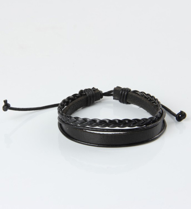 PSL088 HOT Leather Bracelets & Bangles For Men And Women Black And Brown Braided Rope Fashion Man Jewelry