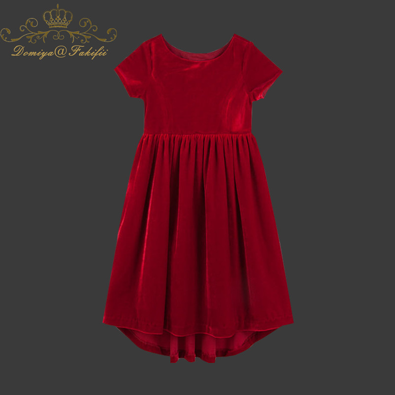 Baby Girl Dress 2018 Summer Princess Wedding Dress Kids Clothes Unicorn Red Velvet Costume Children Dresses for Girls Clothes цены