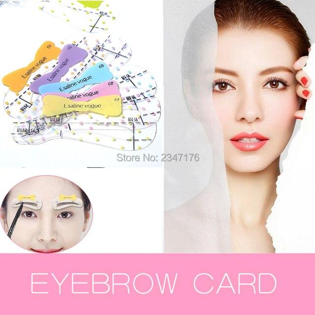 30pcs Styles Diy Magic Permanent Makeup Eyebrow Ruler For Grooming