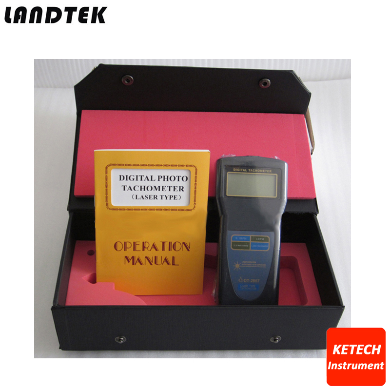 DT2857 Photo Contact Laser Type  Digital Tachometer 2.5~99,999 RPM photo touch type tachometer dt 2856