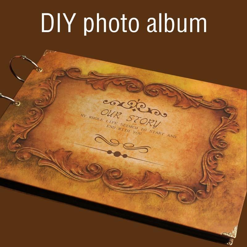 Quality Photo Albums: Our Story Wedding Diy Vintage Photo Album Handmade Retro