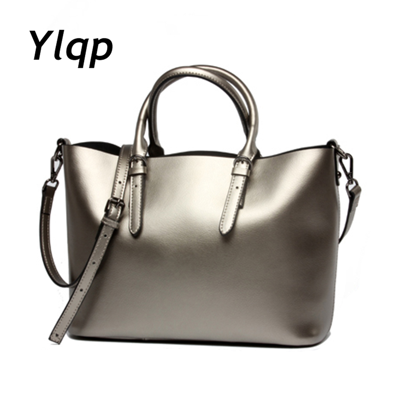 2017 Luxury Women Handbag Genuine Leather Large Tote Bag Female One Over The Shoulder Messenger Bags Ladies Crossbody Handbags