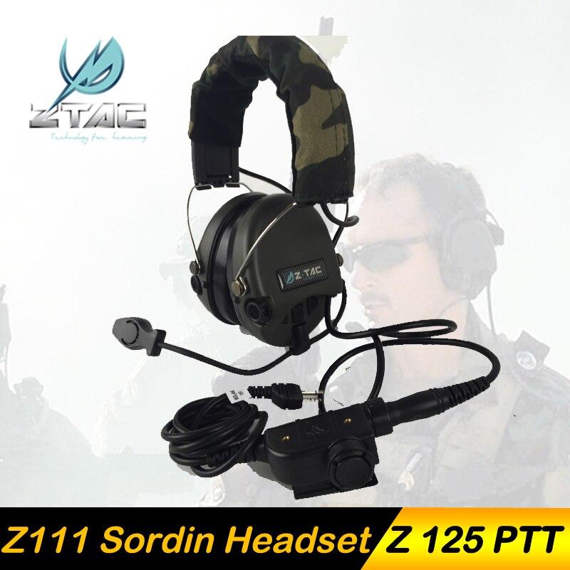 Z-TAC Pistola Ad Aria Tatical Arsoft ZSordin Cuffie Peltor Tactical Headset Attivo Con z tac Softair Z tactical Midland PTT kenwood