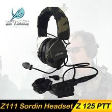 Z Tactical ZSordin երրորդ սերնդի աղմուկի իջեցումը չեղյալ հայտարարելով էլեկտրոնային ձայնային պիկապ ականջակալը Z111- ին `աջակցության ստանդարտներով PTT
