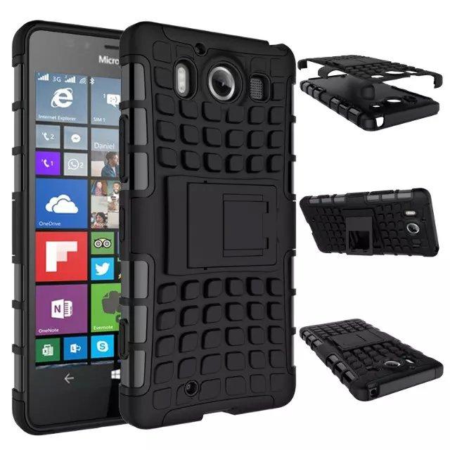 8 Colors Tpu Pc Rugged Heavy Duty Hybrid Case For Microsoft Nokia Lumia 950 Armor