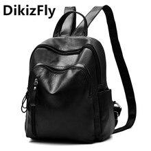 DikizFly Марка Рюкзаки Женщины Опрятный Стиль ИСКУССТВЕННАЯ Кожа женщины Рюкзак для Подростков девушка mochila feminina школьные сумки Дорожные сумки