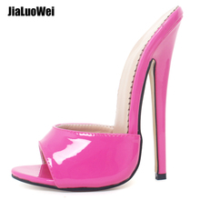New arrive Women Sexy PU Leather Sandals High Heels shoes Ladies Black party Shoes Peep Toe Summer/Spring Slippers