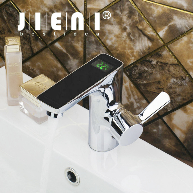 Black digital display temperature sensor bathroom chrome brass deck black digital display temperature sensor bathroom chrome brass deck mount wash basin mixer sink torneira vessel sisterspd