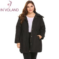 IN VOLAND Plus Size L 4XL Women Warm Jacket 2018 Winter Spring Puffer Casual Removable Hooded