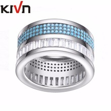 KIVN Womens Fashion Jewelry CZ Cubic Zirconia Bridal Engagement Wedding Ring Bands Christmas Mothers Day Birthday Girls Gifts
