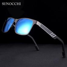 SUNOCCHI 2019 Men  Square Sunglasses Polarized Aluminum Magnesium Rectangle Sun glasses Driving Shades Oculos masculino Male