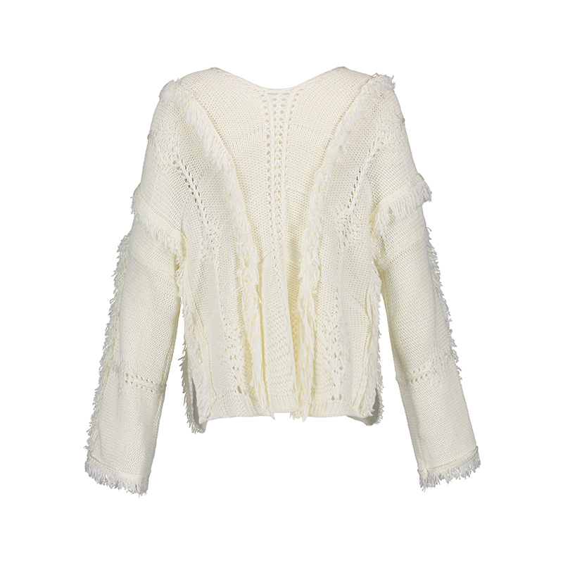 Bohoartis Fall Women Loose Sweater Bohemian Women White Sweater ...