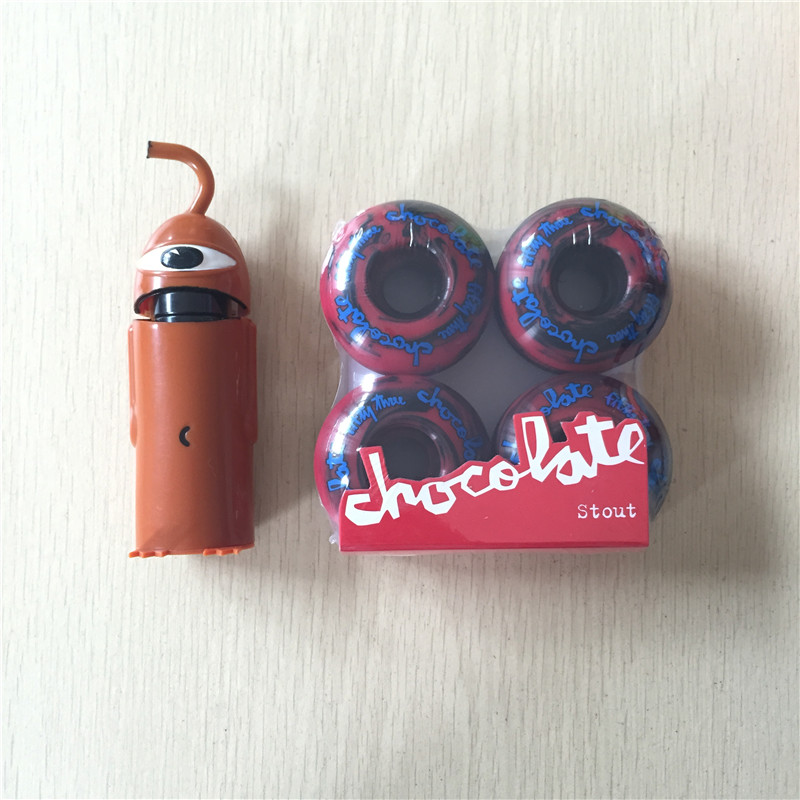 Free Shipping Skateboard Parts CHOCOLATE 101A Skateboard Wheels & TOY MACHINE ABEC-5 Bearings Skateboard For Skate Deck