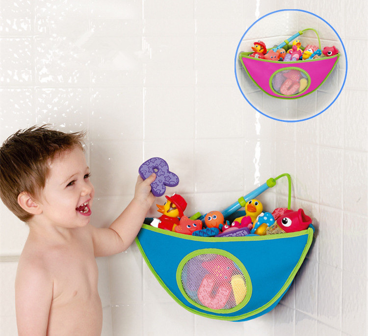 Waterproof Corner Baby Bath Toy Storage Containers Bags Bathroom Toy ...