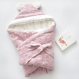 Image 5 - เด็ก Discharge ซองจดหมายสำหรับทารกแรกเกิดผ้าฝ้ายผ้าห่มเด็กนุ่ม WARM สำหรับ Baby GIRL BOY 80x80cm