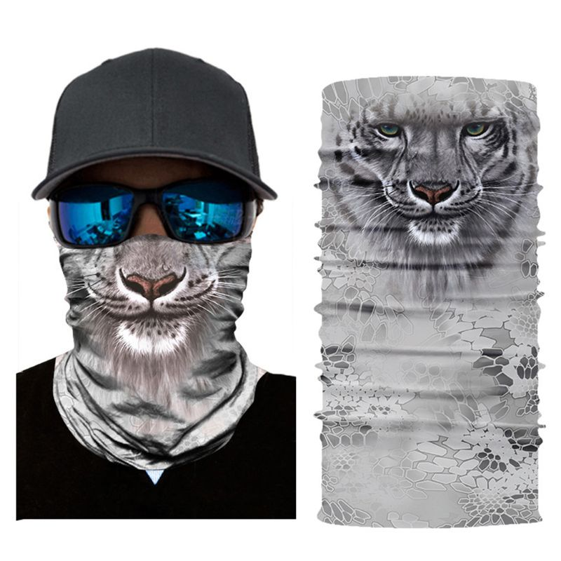 Party Outdoor Magic Scarf Animal 3D Digital Printing Cycling Sun Proof Tube Headband Turban Face Mask