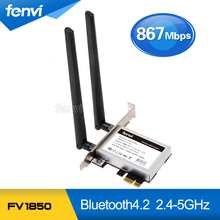 Fenvi Escritorio Inalámbrico de Banda Dual Intel 8265AC 8265NGW 802.11ac 867 Mbps Wlan WiFi + Bluetooth 4.2 tarjeta PCI Express PCI-E adaptador