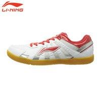 Li Ning Original Brand Men Men Table Tennis Shoes Room Training Shoes White Breathable Sneakers ASNH009