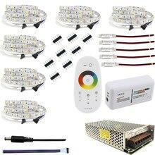 Светодиодные ленты 10 м 20 м 25 м возможностью погружения на глубину до 30 м 12V RGB/RGBW/RGBWW комплект Водонепроницаемый 5050 гибкий 300 Светодиодные ленты e 5 м IP65 Диодная лента светодиодный веревки ленты Комплект
