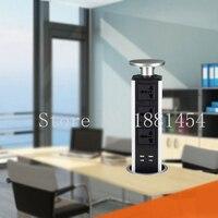 Pop UP Working Table Socket Hidden Universal Power Plug EU Plug USB Charging Office Desktop Socket