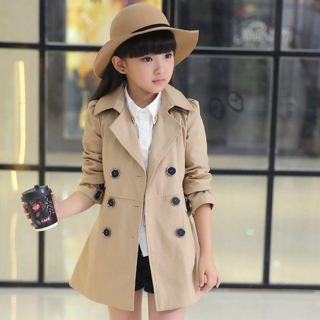 951d872e42c5 Girl children s clothing jacket new Girls fashion long coats The ...
