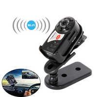 Mini Q7 kamery 480P Wifi DV DVR bezprzewodowy z sześć świateł Mini kamera wideo rejestrator widzenie nocne z wykorzystaniem podczerwieni mały aparat fotograficzny