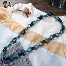 Necklaces & Pendants Jewelry Necklace Hot Sale Real Trendy Women Colar 2018 Fashion Long Acrylic 8 Twisted Chain Female Collier