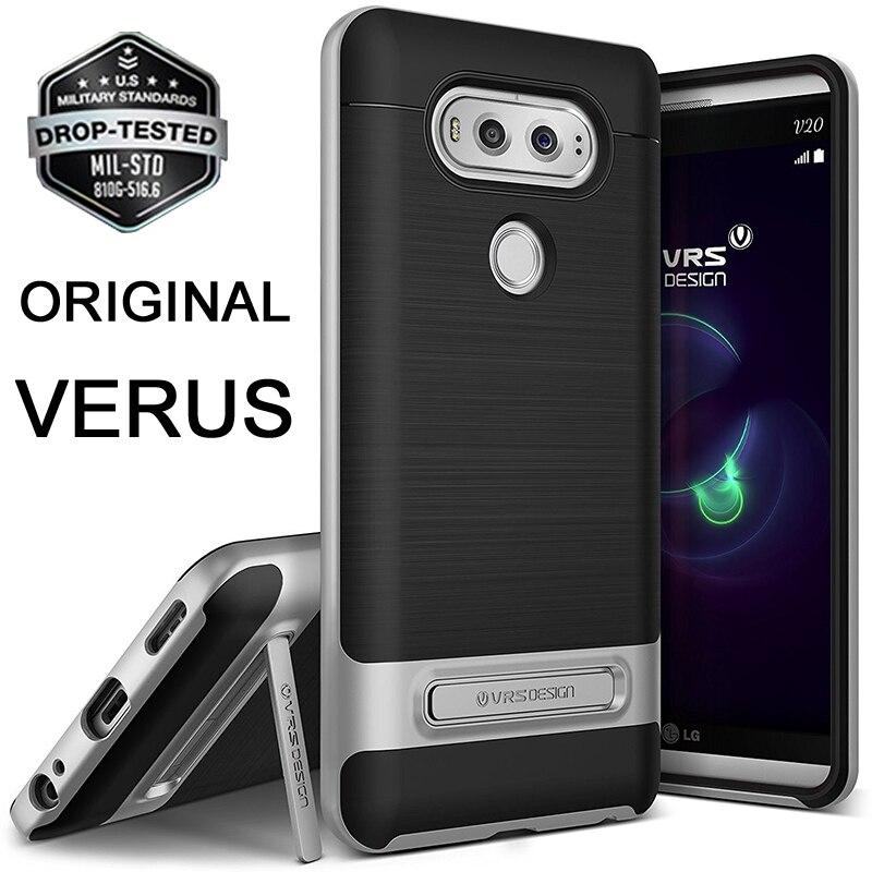 Original VERUS For LG V20 Case Premium High Pro Shield Hard Frame Brushed Metal Back Hybrid