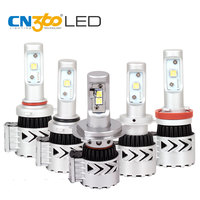 CN360 2PCS H4 H7 H11 9006 9005 LED Newest XHP50 Chip Headlight Bulbs 6000LM Headlamp 6000K White 12V Waterproof Lamp 40W
