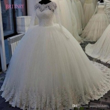 BRITNRY Wedding Dresses 2018 Ball Gown Bridal Gown