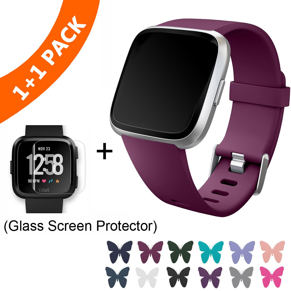 Coolaxy Replacement Strap For Fitbit Versa/Versa Lite Band Silicone Waterproof Wrist Accessories Band For Fitbit Versa Bracelet