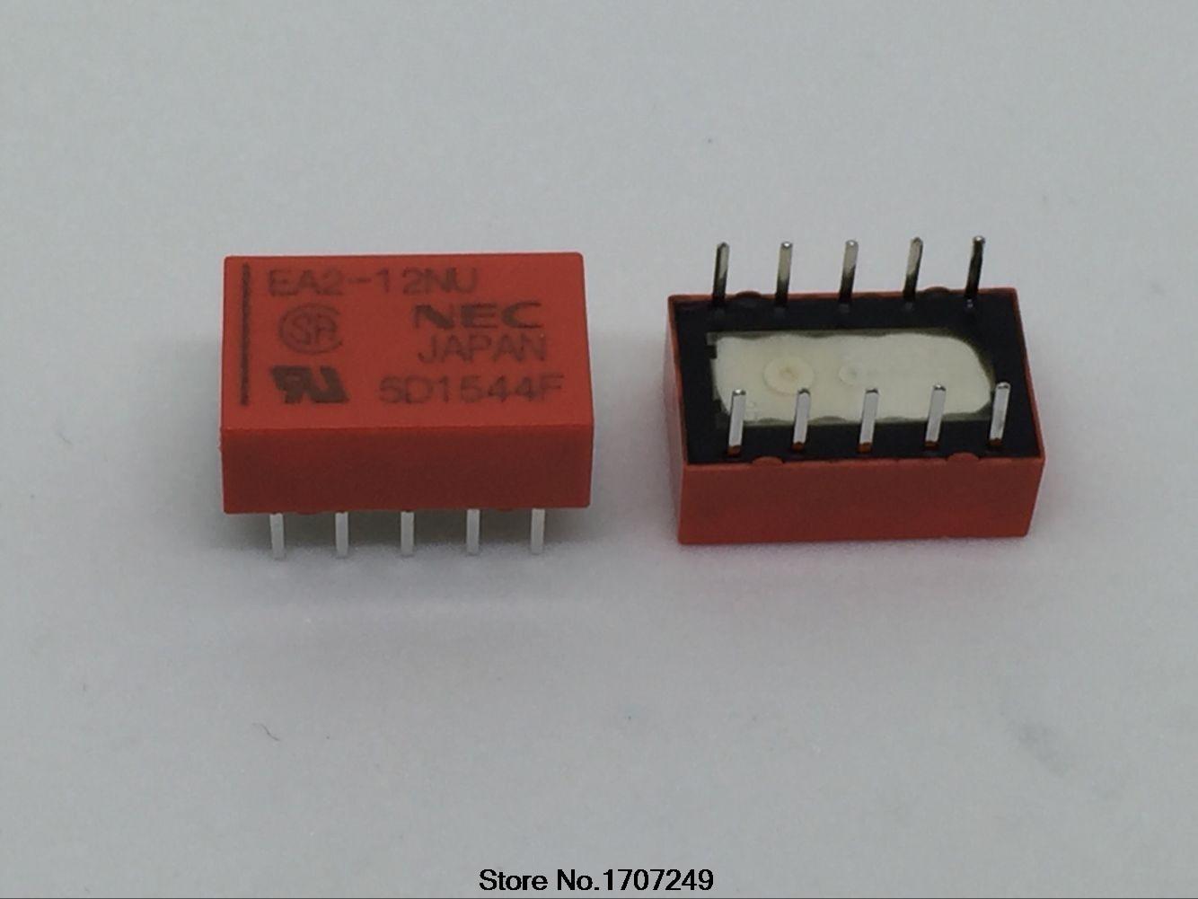 Free Shipping 100pcs lot EA2 12 EA2 12NU 10 pin 1A can replace Matsushita TQ2 12V