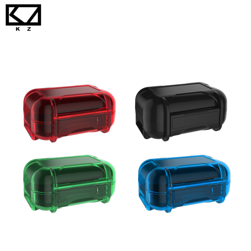 все цены на Original KZ ABS Resin Waterproof Box Drop Resistance Protective Case Colorful Portable Hold Storage Box Bag Earphone Accessories